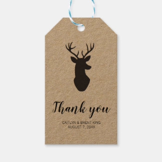 Rustic Deer Kraft Thank You  Favor Tag