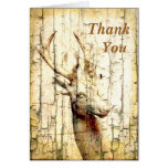 Rustic Deer Thank You Greeting Cards