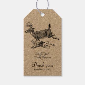 Rustic Deer Wedding Thank You Favor Gift Tag