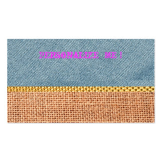 Rustic Denim Card Burlap Modern Save the Date Gold Pack Of Standard Business Cards