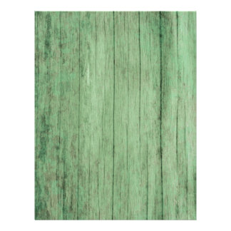 Rustic Distressed Green Wood Paper 21.5 Cm X 28 Cm Flyer