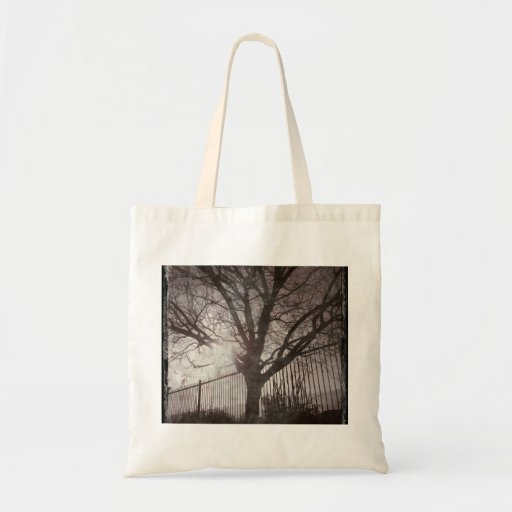Rustic Distressed Tree Silhouette Grunge Canvas Bag