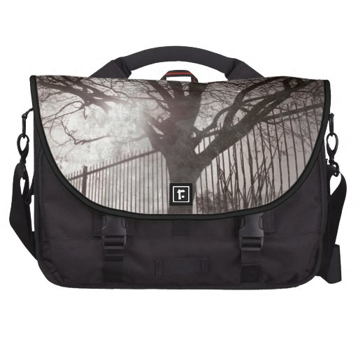 Rustic Distressed Tree Silhouette Grunge Commuter Bags