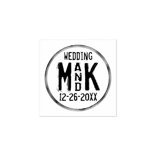 Rustic DIY Wedding Rubber Stamp - Add your