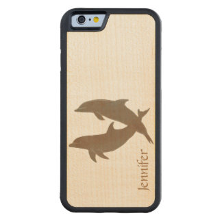 Rustic Dolphins Beach Wedding Maple iPhone 6 Bumper Case