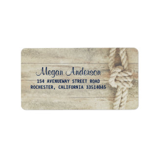 Rustic Driftwood Rustic Beach Nautical Label