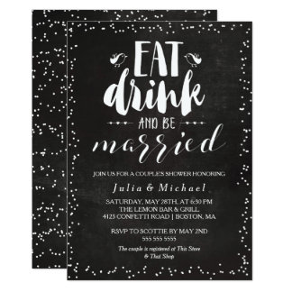 Rustic Eat Drink & Be Married Couple's Shower Card