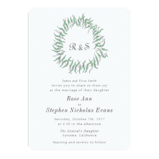 Rustic Elegance Wreath Wedding Card