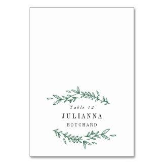 Rustic Elegant Floral Monogram Escort Cards Table Cards