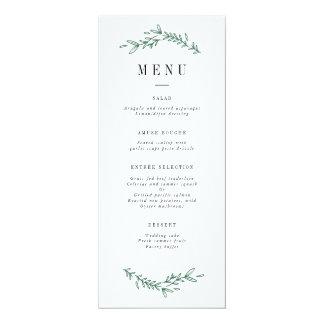Rustic Elegant Floral Monogram Menu Card