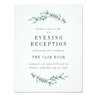Rustic Elegant Floral Monogram Reception Cards 11 Cm X 14 Cm Invitation Card