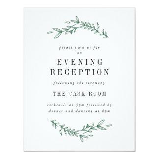 Rustic Elegant Floral Monogram Reception Cards 11 Cm X 14 Cm Invitation Card
