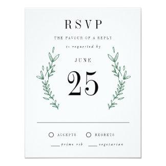 Rustic Elegant Floral Monogram RSVP Cards