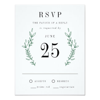Rustic Elegant Floral Monogram RSVP Cards 11 Cm X 14 Cm Invitation Card