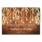 Rustic Elegant Gold Willow Tree Thank You Card