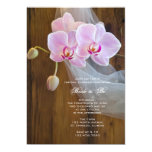 Rustic Elegant Orchids Country Bridal Shower 13 Cm X 18 Cm Invitation Card