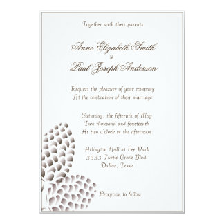 Rustic Elegant Pinecones Wedding Invitation