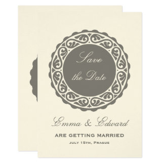 Rustic elegant Save the date invitation card