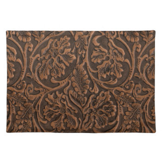 Rustic Embossed Leather Placemat