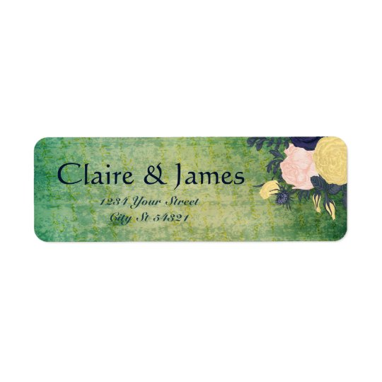 Rustic Emerald Floral Address Labels