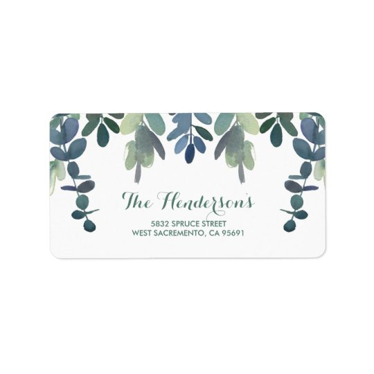 Rustic Eucalyptus Greenery Gum Tree Wedding Address Label
