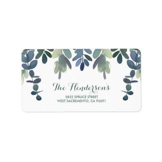 Rustic Eucalyptus Greenery Gum Tree Wedding Label