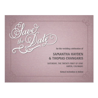 Rustic Fade Pink Save the Date Postcard