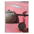 Rustic faded red land rover African safari jeep Notebook