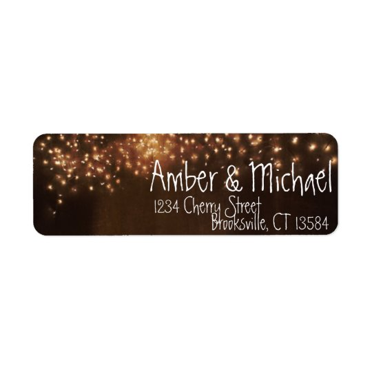 Rustic Fairy Lights Custom Vintage Address Labels