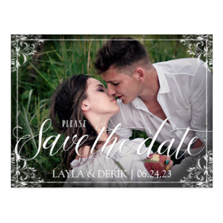 Rustic Fairytale Save the Date Postcard - Nadine