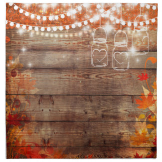 Rustic Fall Autumn Napkins with Mason Jars