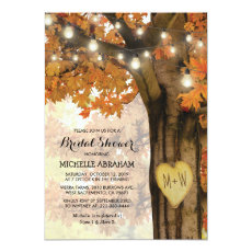 Rustic Fall Autumn Tree Lights Bridal Shower