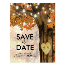 Rustic Fall Autumn Tree Lights Save the Date