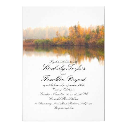 Rustic Fall Elegant and Simple Wedding Card