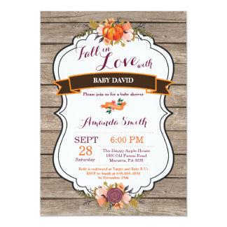 Rustic Fall in Love Pumpkin Baby Shower Invitation