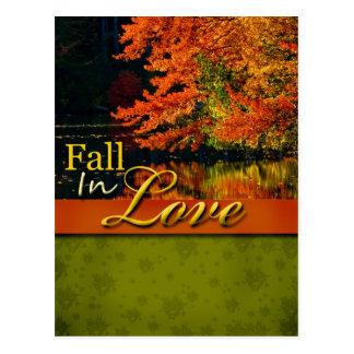 Rustic Fall In Love Wedding Postcard