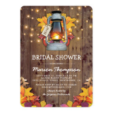 Rustic Fall String Lights Autumn Bridal Shower