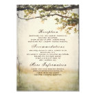 Rustic Fall Tree Branches Wedding Details Card