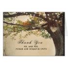 Rustic Fall Tree Lights Wedding Thank You Card