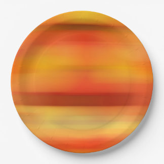 Rustic Fall Wedding Colours Orange Gradient Autumn 9 Inch Paper Plate