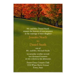Rustic Fall Wedding Invitation Colors