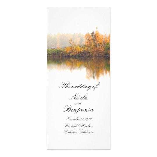 Rustic Fall Wedding Programs Rack Card