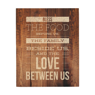 "Rustic Family Love 8""x10"" Wood Wall Art"