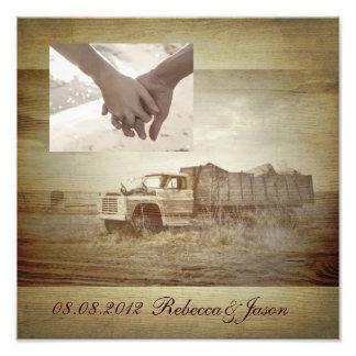 Rustic Farm Truck Western Country Wedding Photo Print
