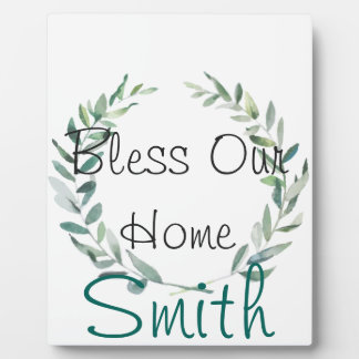 Rustic Farmhouse Watercolor Magnolia Wreath Design Plaque