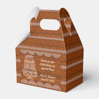 Rustic Faux Wood Wedding Favor Box (Customize it!) Wedding Favour Boxes