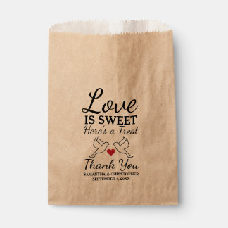Rustic Favor Bags - Dove Wedding Bags