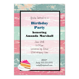 "Rustic Fence Birthday party 5"" X 7"" Invitation Card"