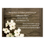 Rustic Fence & Dogwood Blooms Wedding Enclosure Pack Of Chubby Business Cards