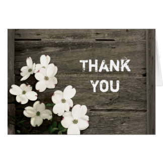 Rustic Fence Wedding Thank You Note Card